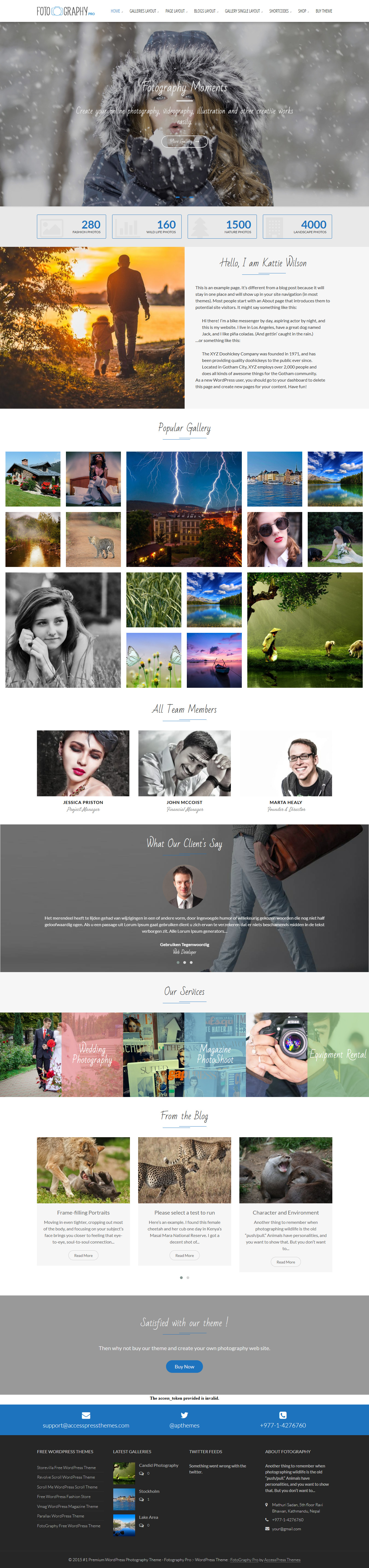 Fotography Pro - Premium Photography WordPress Themes and Templates