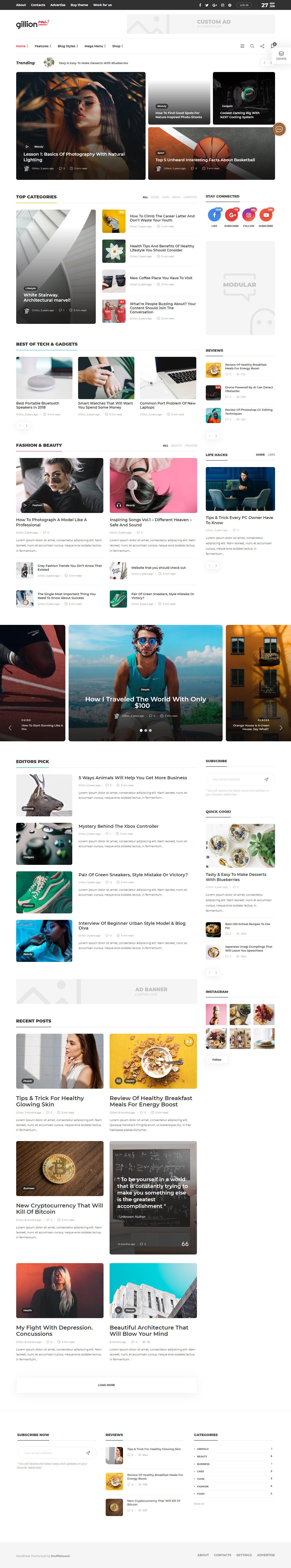 Gillion - Best Premium Adsense Optimized WordPress ThemeGillion - Best Premium Adsense Optimized WordPress Theme