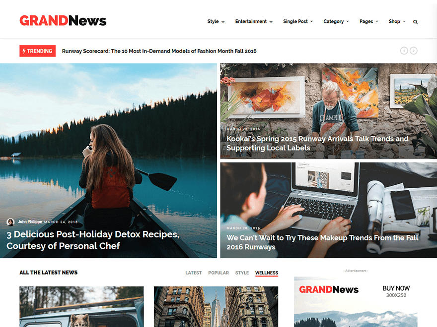 GrandNews - Best Premium News Magazine WordPress Themes