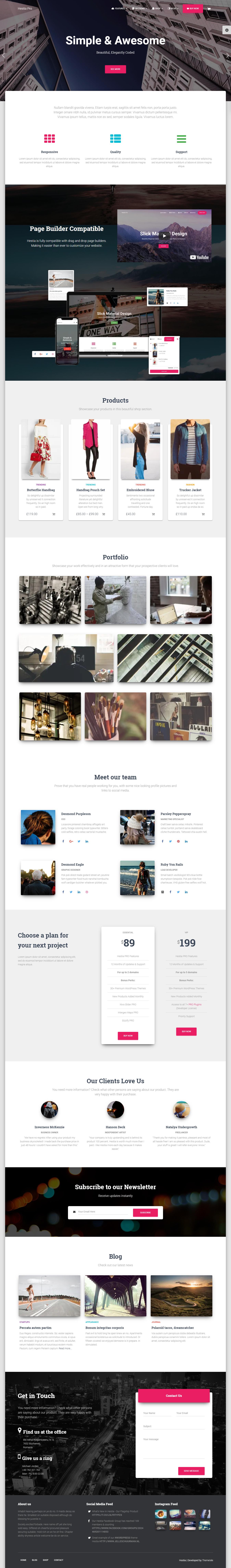 Hestia Pro - Premium Agency WordPress Themes and Templates