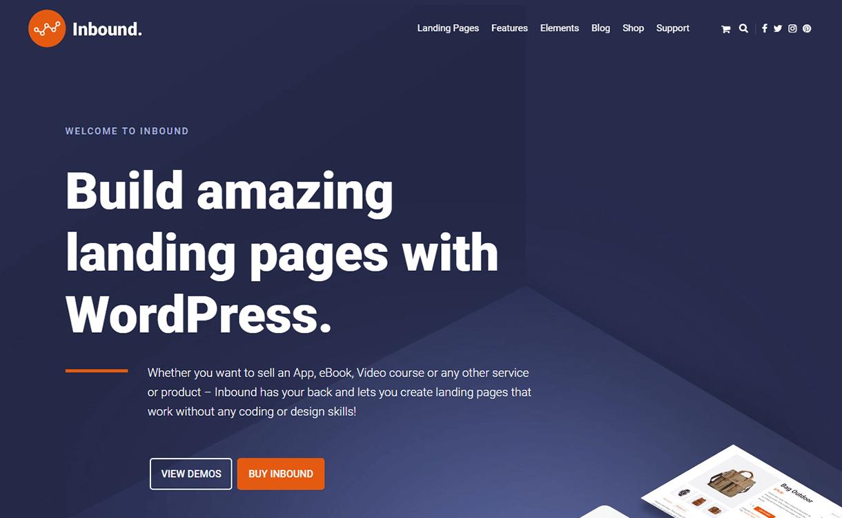 Inbound - Best Premium WordPress Landing Page Themes