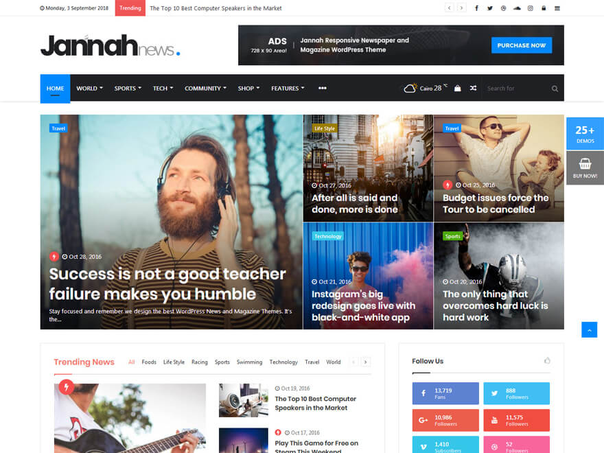 Jonnah News - Best Premium News Magazine WordPress Themes