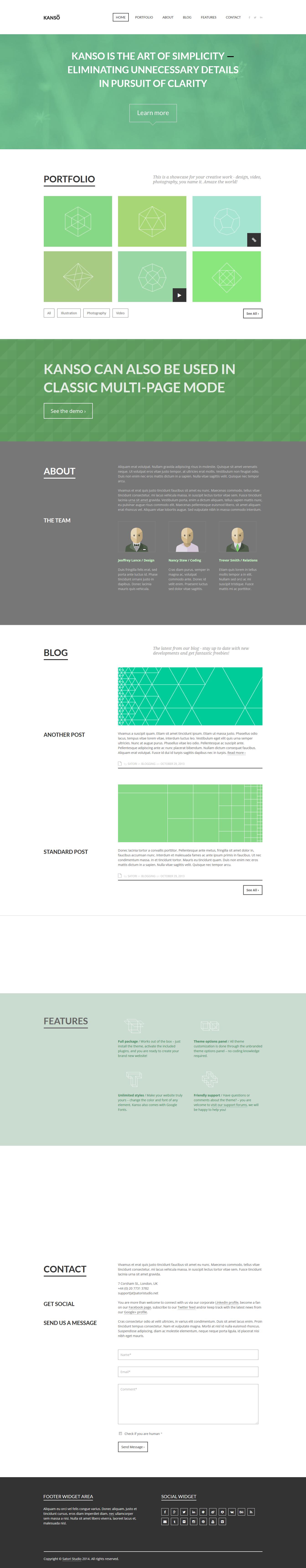 kanso best premium parallax wordpress theme - 10+ Best Premium Parallax WordPress Themes and Templates