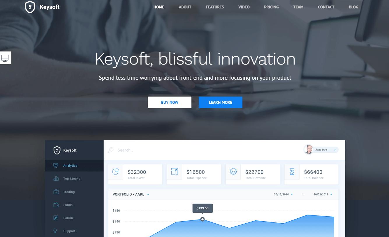 Keysoft - Best Premium WordPress Landing Page Themes