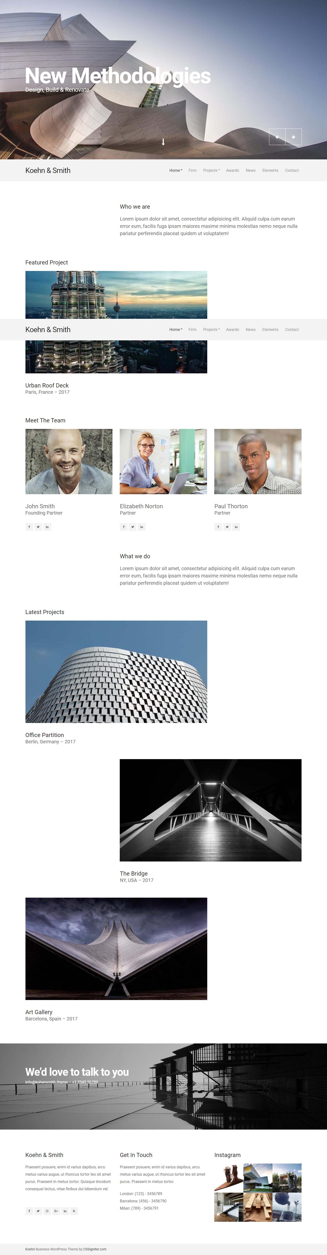 Koehn - Premium Agency WordPress Themes and Templates