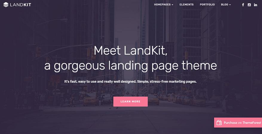 Landkit - Best Premium WordPress Landing Page Themes