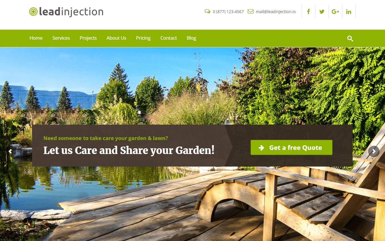 Leadinjection - Best Premium WordPress Landing Page Themes