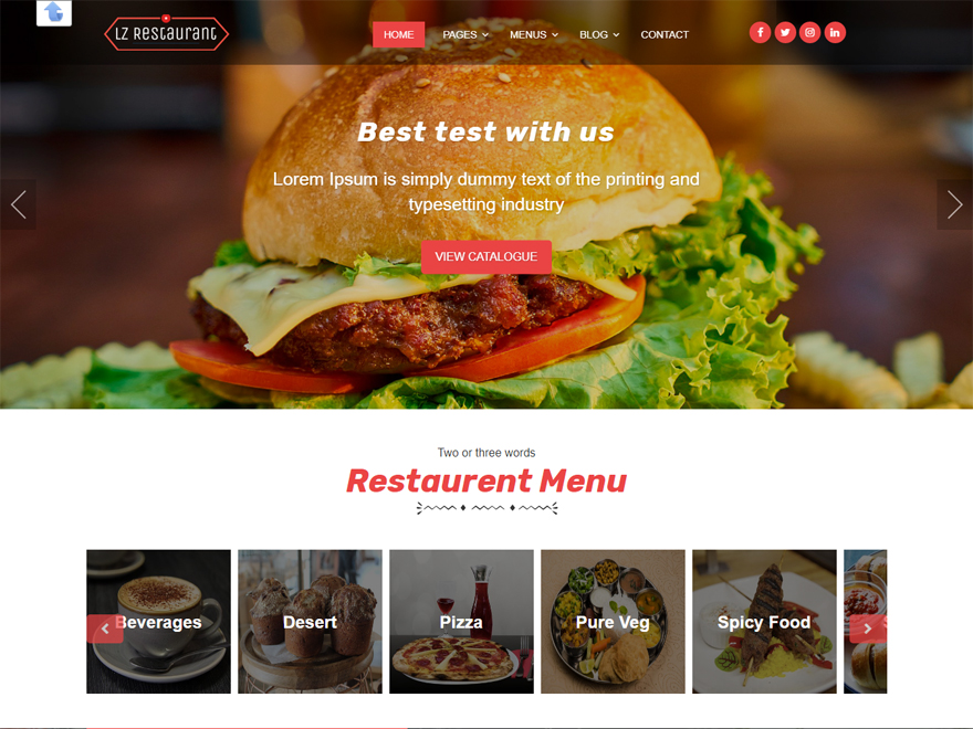 lzrestaurant - Best Free Hotel Resort and BnB WordPress Themes