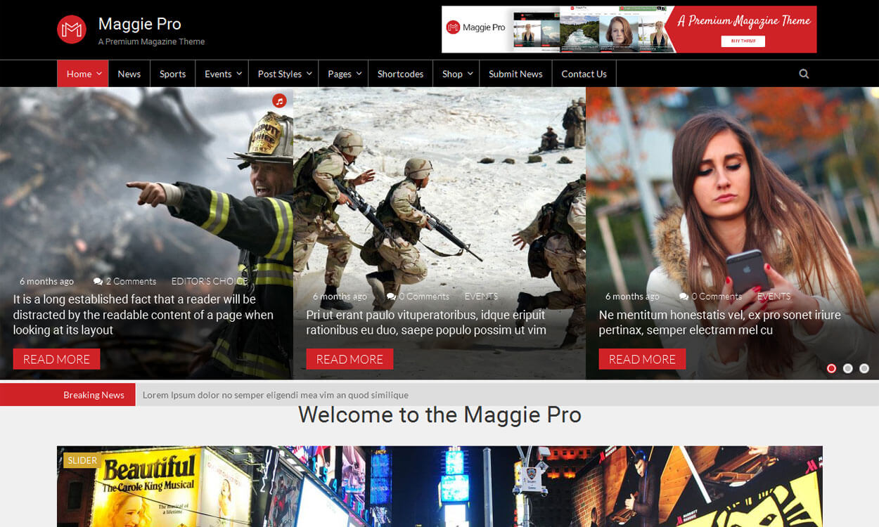 Maggie Pro - Best Premium News Magazine WordPress Themes