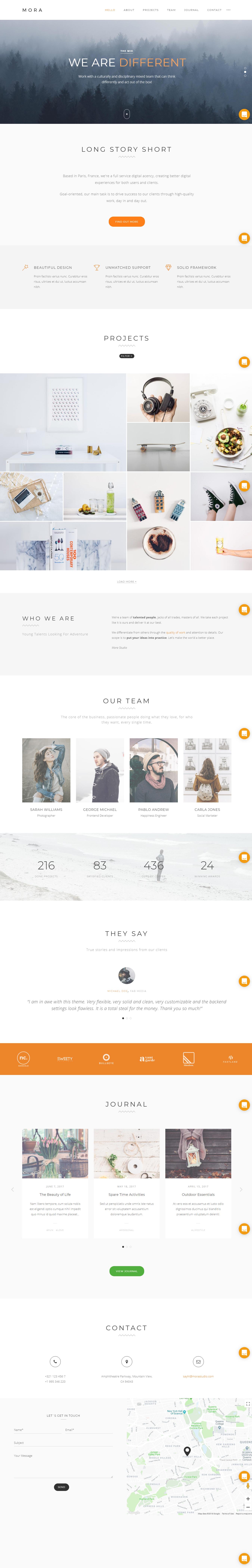 Mora - Premium Photography WordPress Themes and Templates