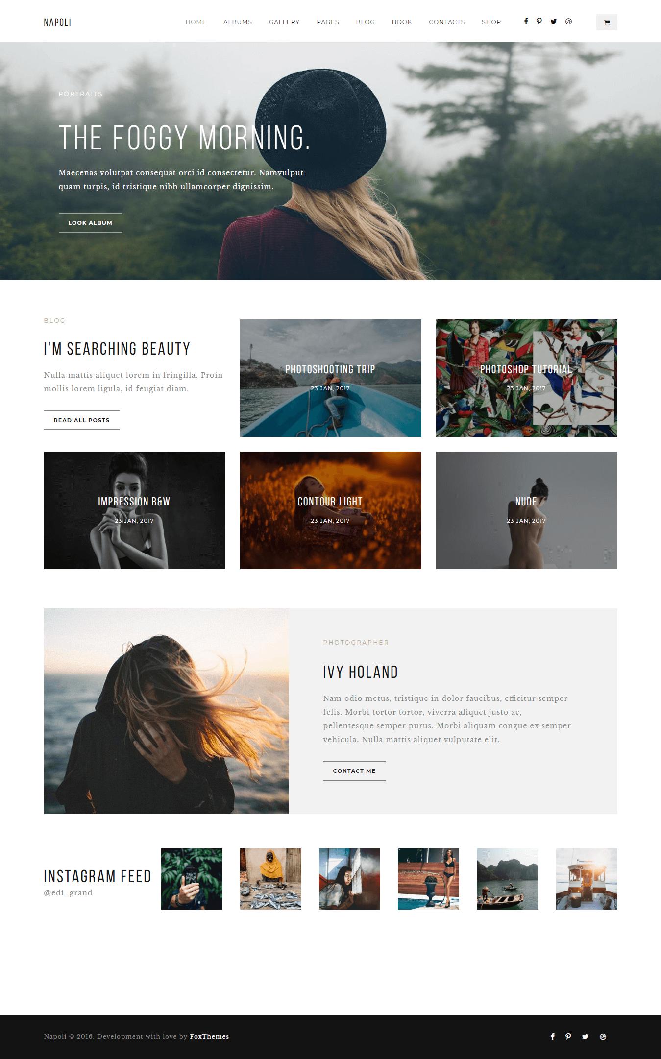 Napoli - Premium Photography WordPress Themes and Templates