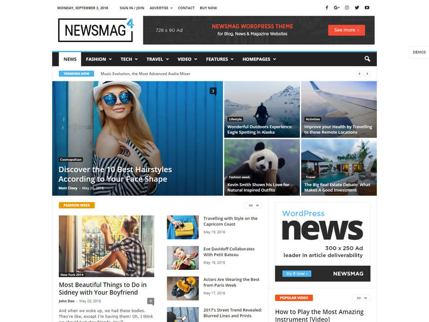 Newsmag - Best Premium News Magazine WordPress Themes