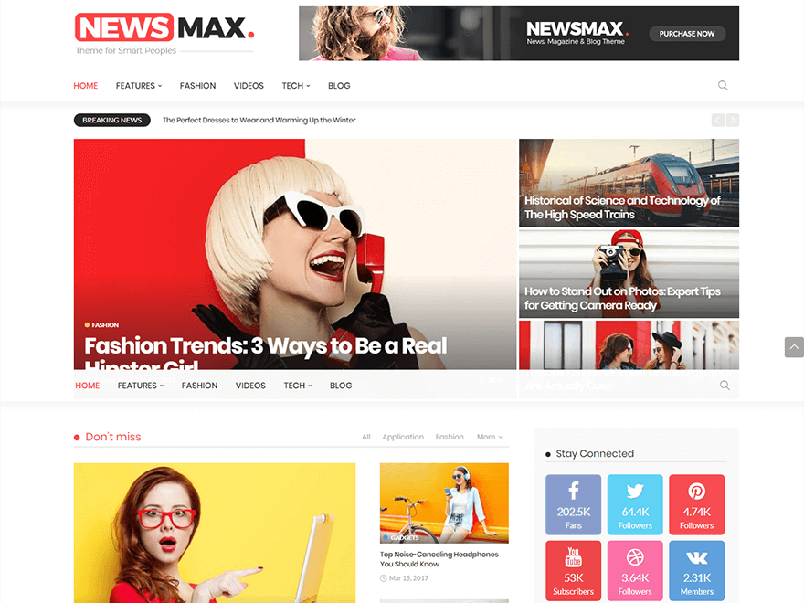 Newsmax - Best Premium News Magazine WordPress Themes