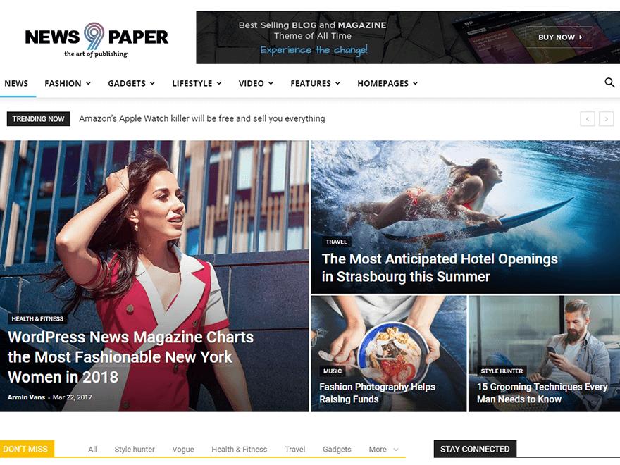 Newspaper - Best Premium News Magazine WordPress Themes