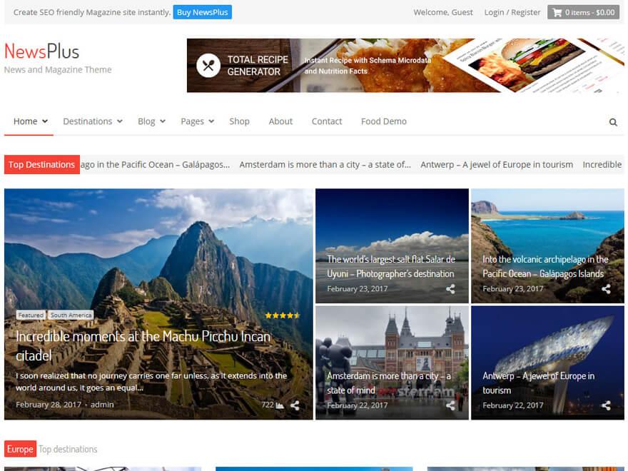 Newsplus - Best Premium News Magazine WordPress Themes