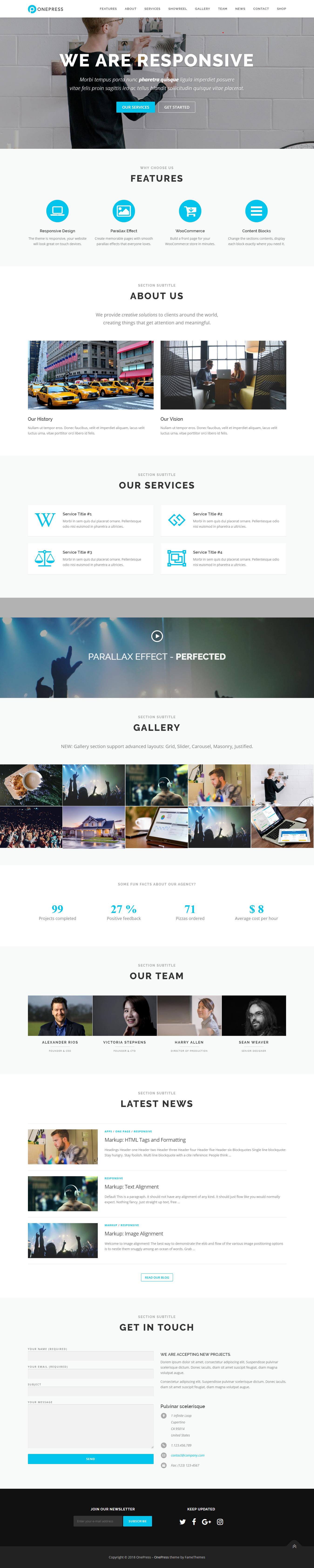 OnePress – Best Free Agency WordPress Theme