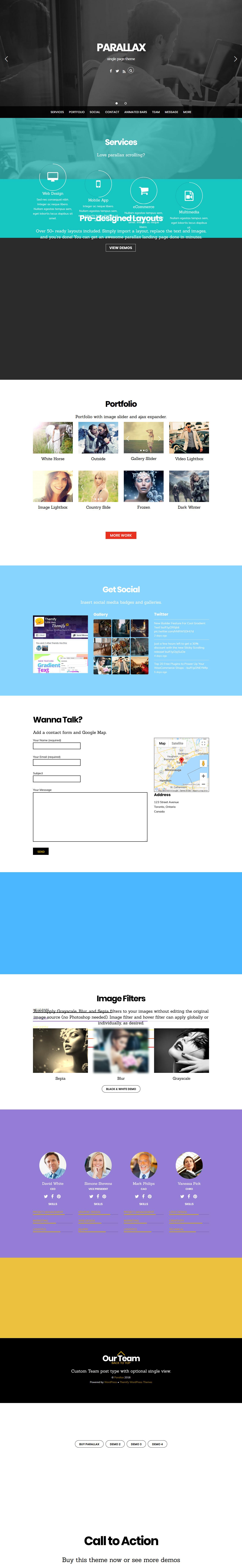 Parallax - Best Premium Parallax WordPress Theme