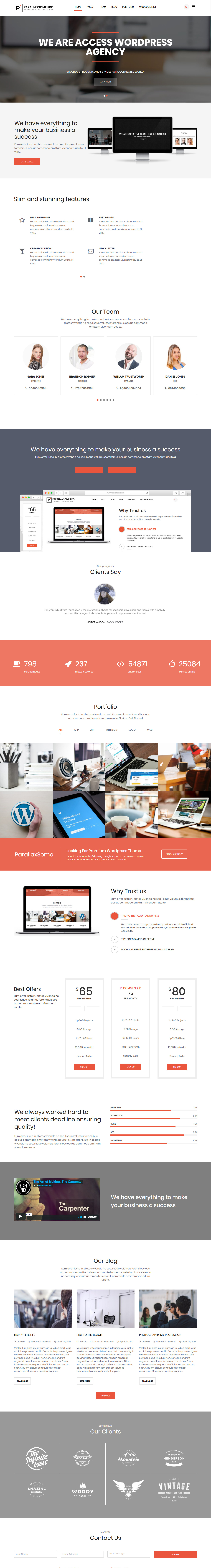ParallaxSome - Best Premium Parallax WordPress Theme