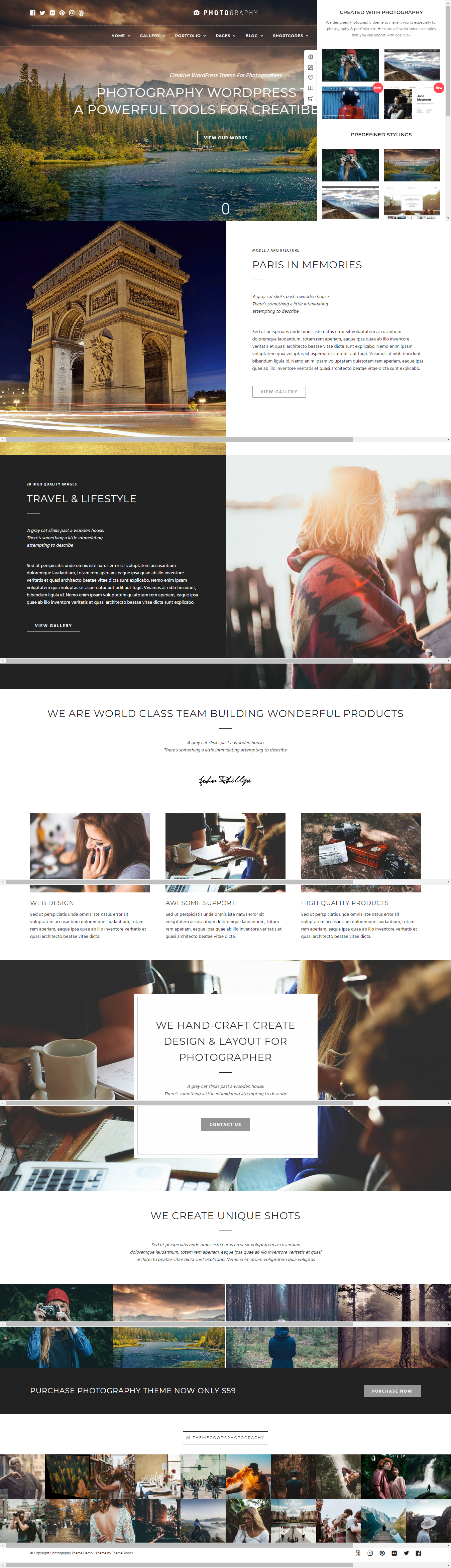 Photography - Premium Photography WordPress Themes and Templates