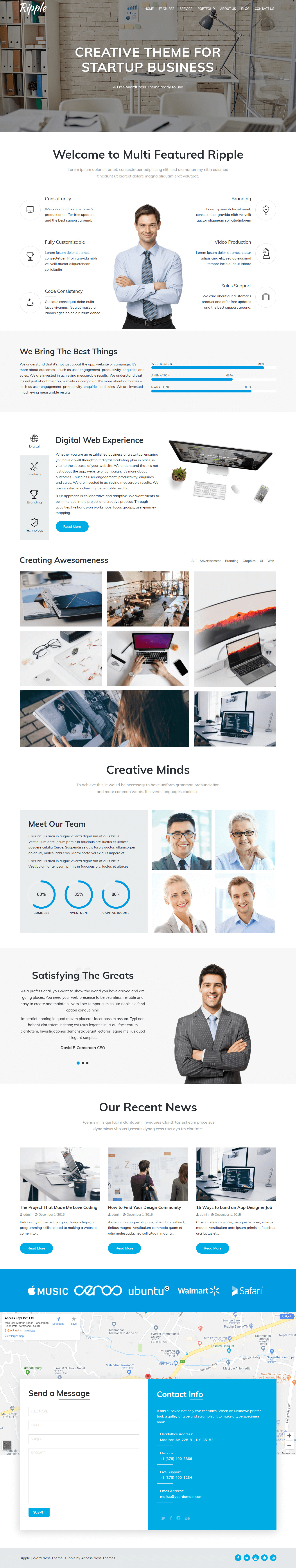 Ripple – Best Free Agency WordPress Theme
