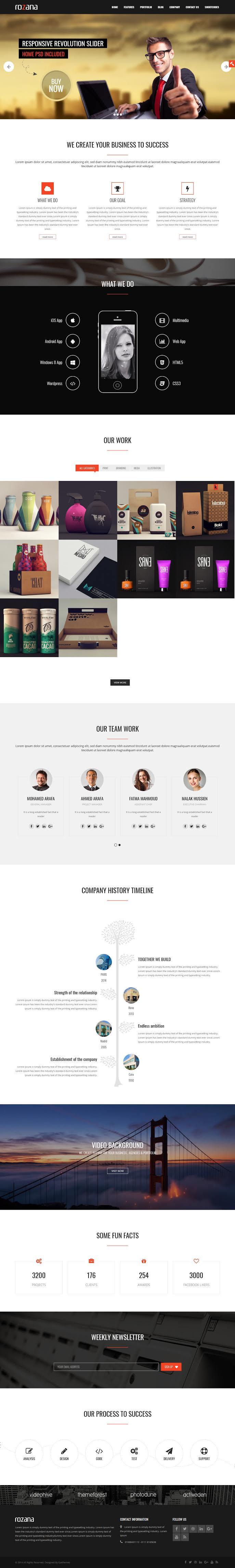 Rozana - Best Coming Soon and Under Construction Premium WordPress Themes and Templates
