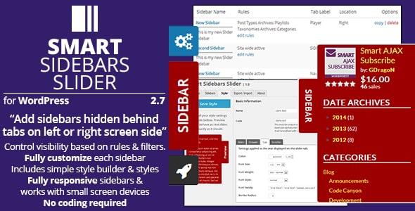 Best WordPress Floating Side Tab Plugins: Smart Sidebars Slider