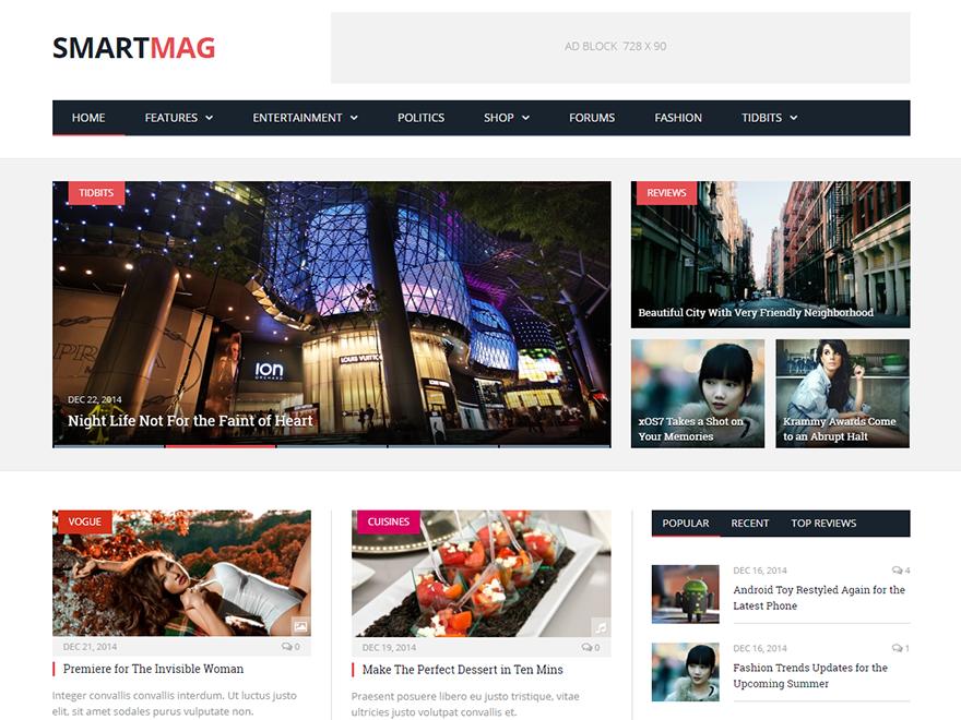 Smartmag - Best Premium News Magazine WordPress Themes