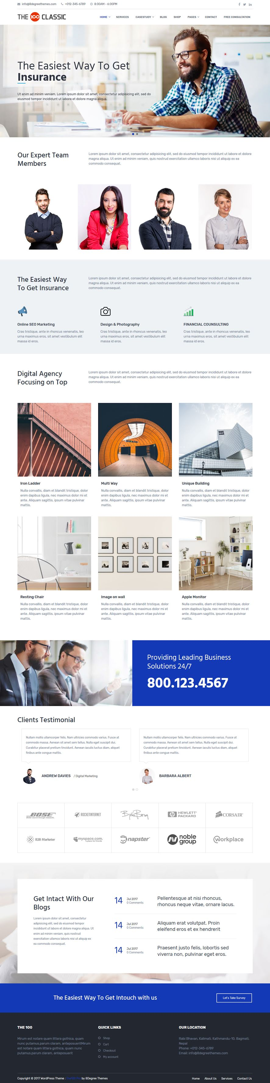 The 100 Pro - Premium Agency WordPress Themes and Templates