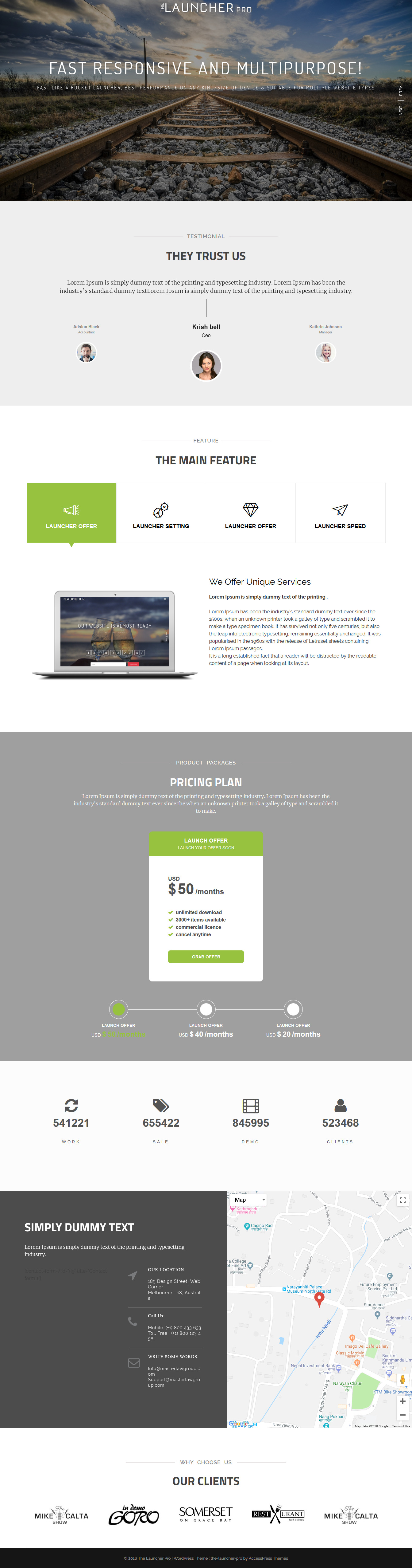 The Launcher Pro - Best Coming Soon and Under Construction Premium WordPress Themes and Templates