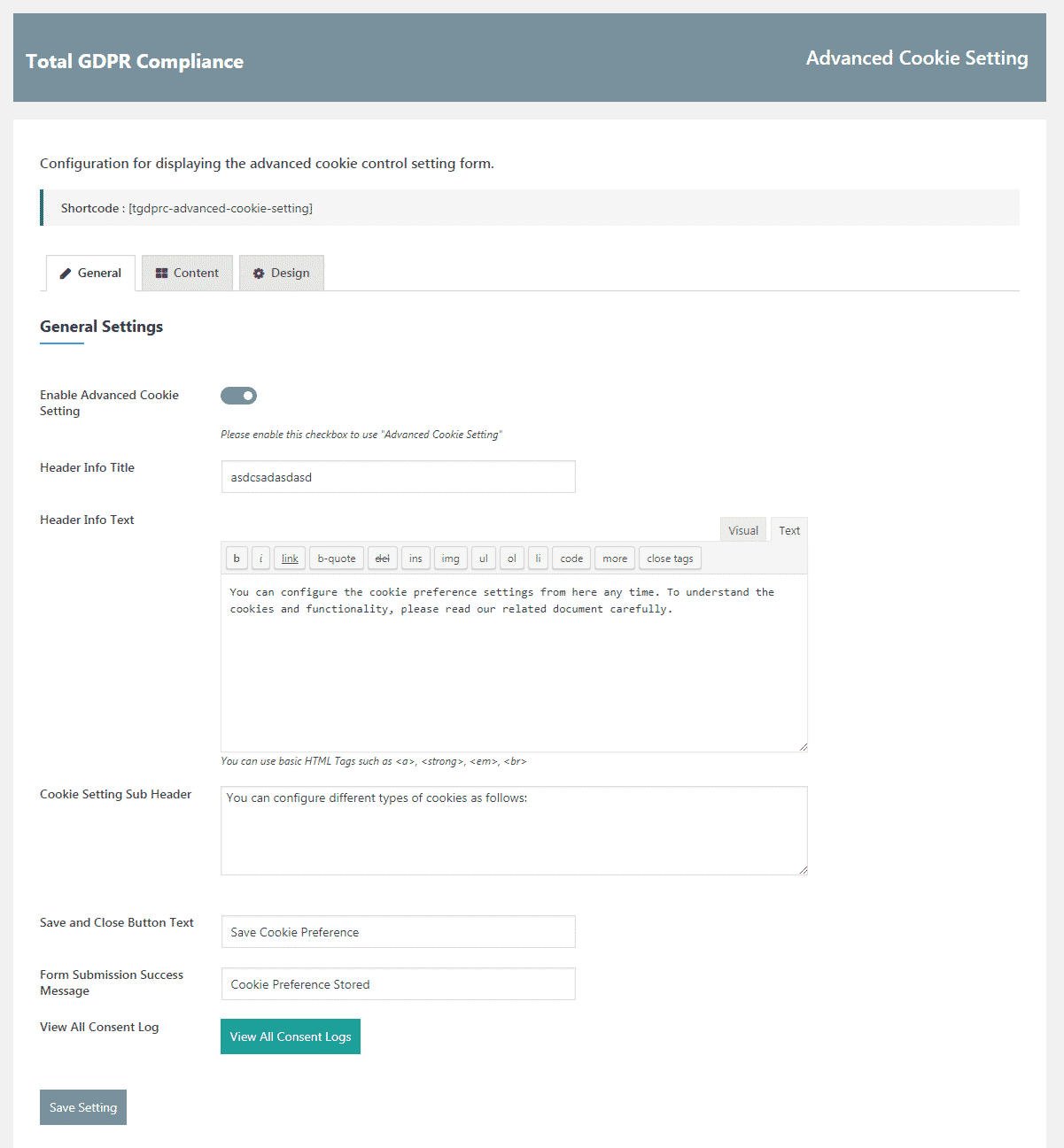 Total GDPR Compliance: Advanced Cookie