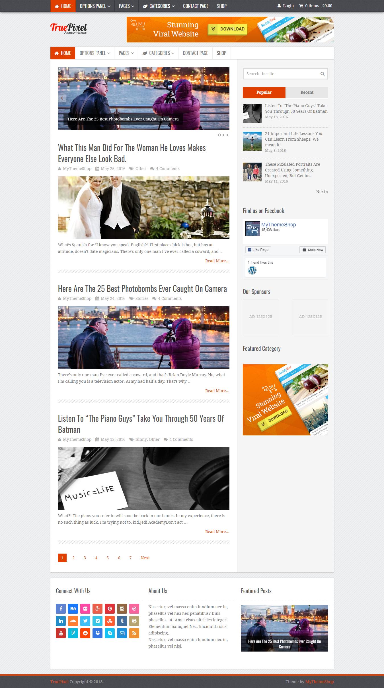 TruePixel - Best Premium Adsense Optimized WordPress Theme