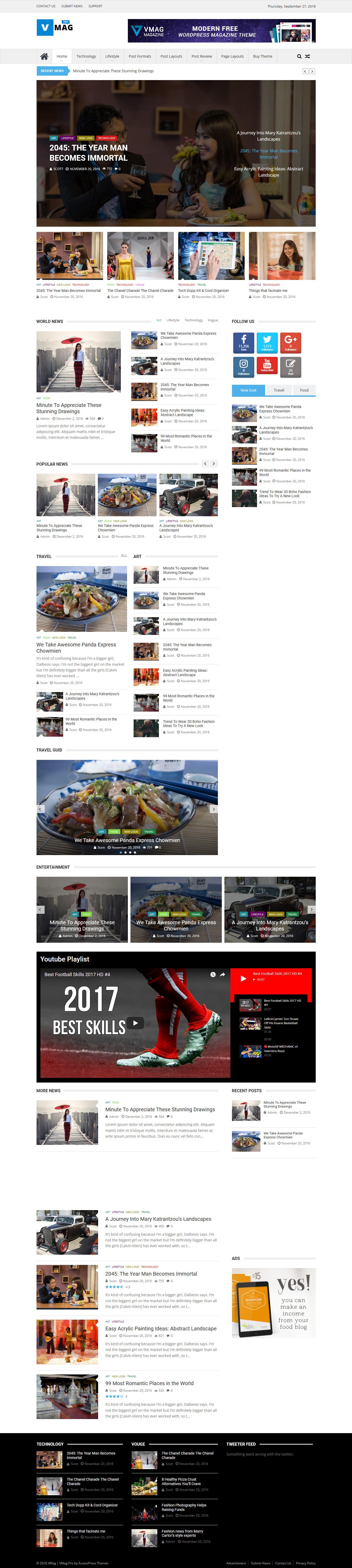 VMag Pro- Best Premium Adsense Optimized WordPress Theme