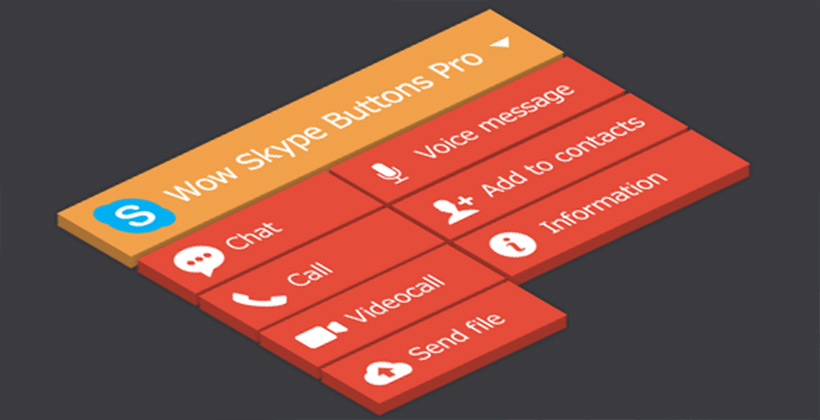 Best WordPress Skype Contact Button Plugins: WOW Skype Button Pro