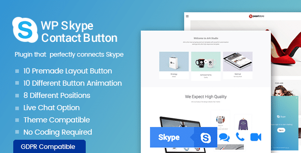 Best WordPress Skype Contact Button Plugins: WP Skype Contact Button