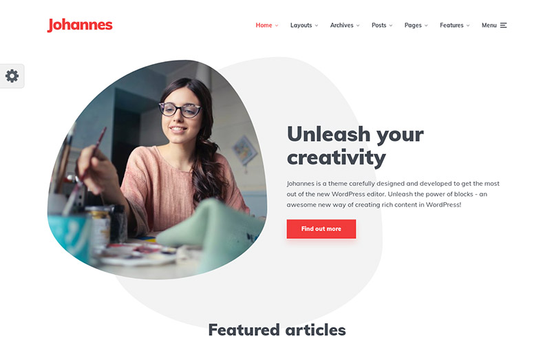 Johannes-WordPress-theme