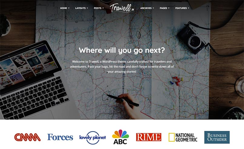 Trawell-WordPress-theme