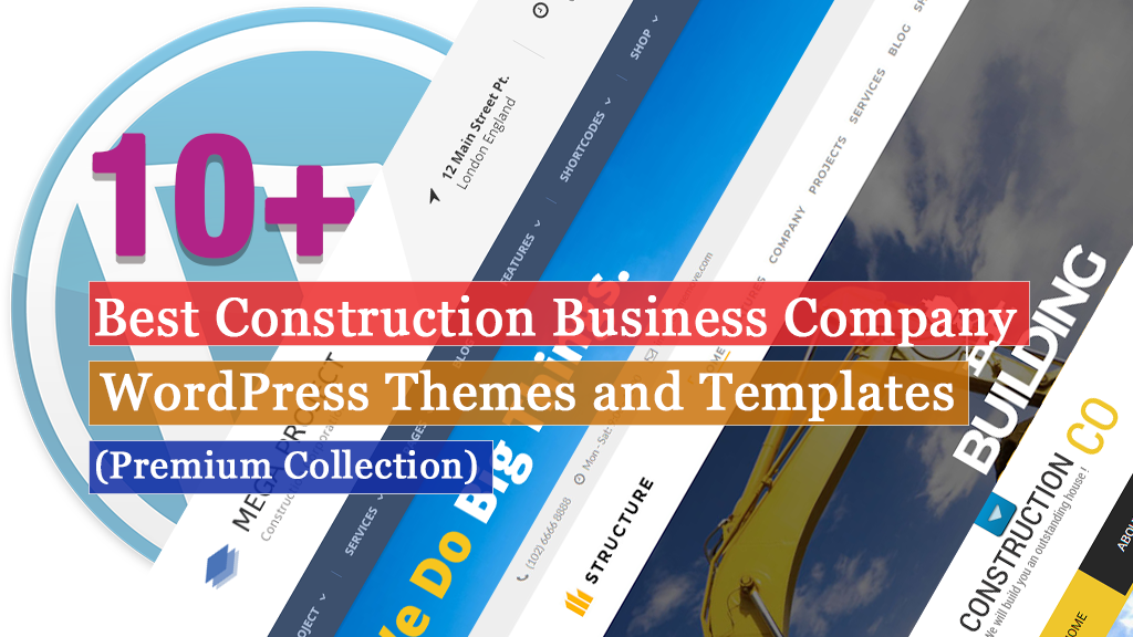 Best Premium Construction Business Company WordPress Themes and Templates