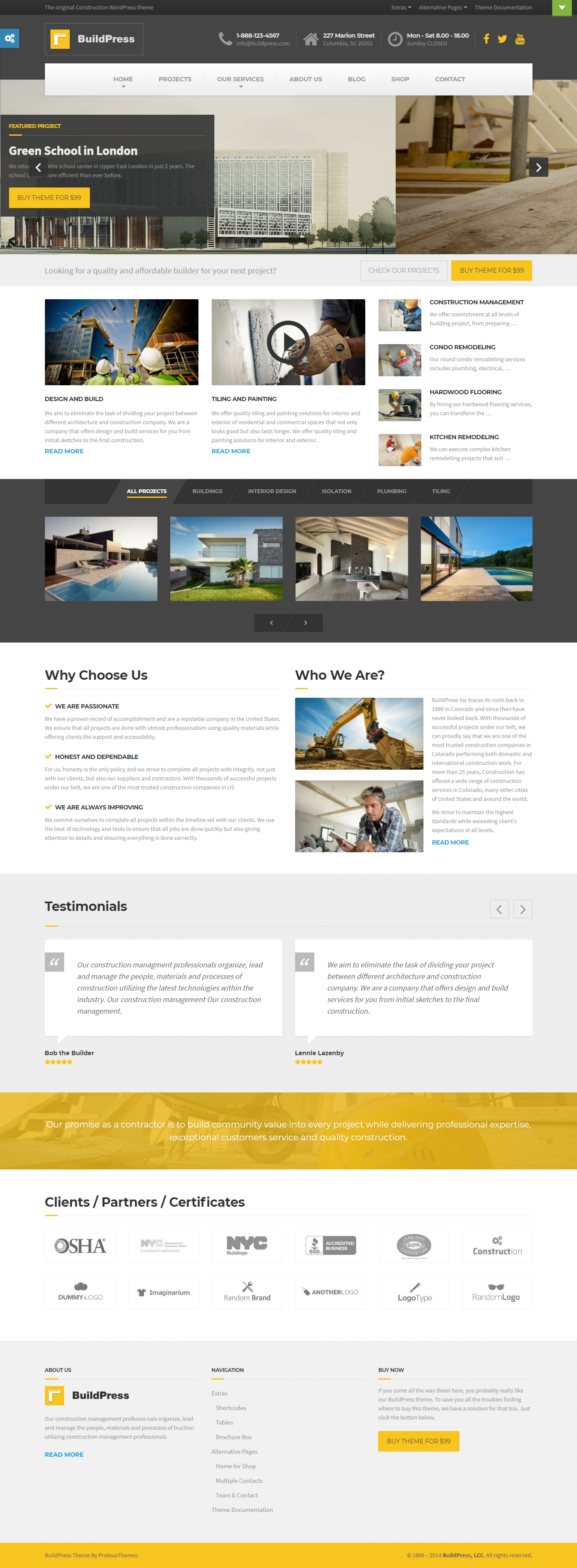 BuildPress - Best Premium Construction Business Company WordPress Theme