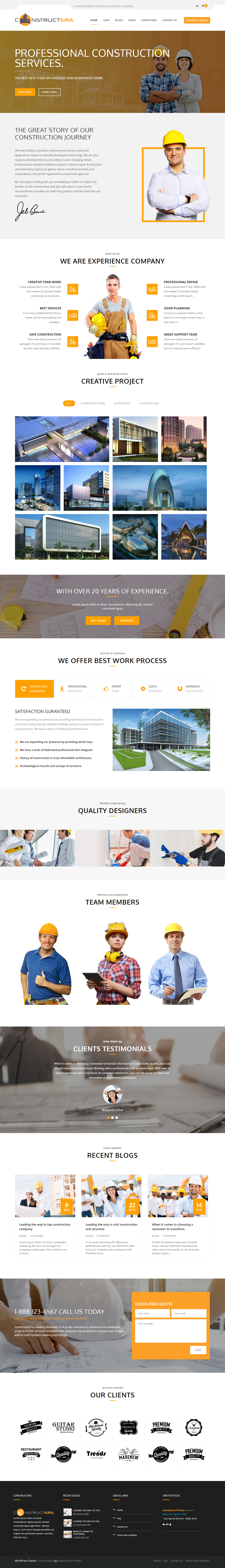 Constructera - Best Premium Construction Business Company WordPress Themes and Templates
