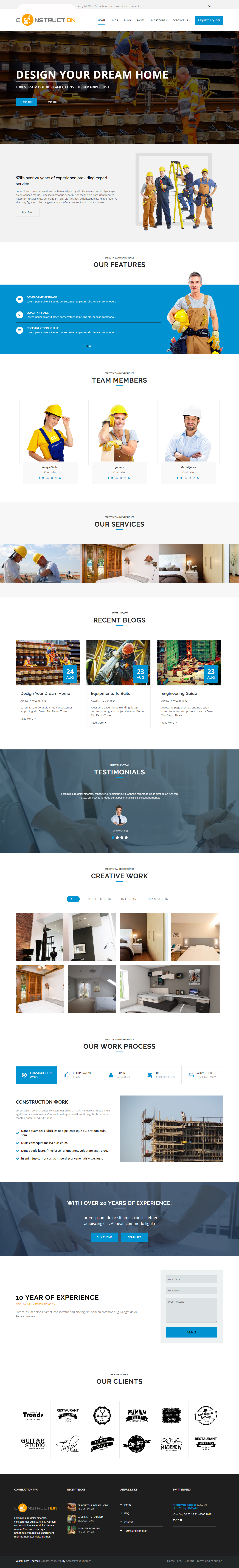 Construction Pro - Best Premium Construction Business Company WordPress Themes and Templates