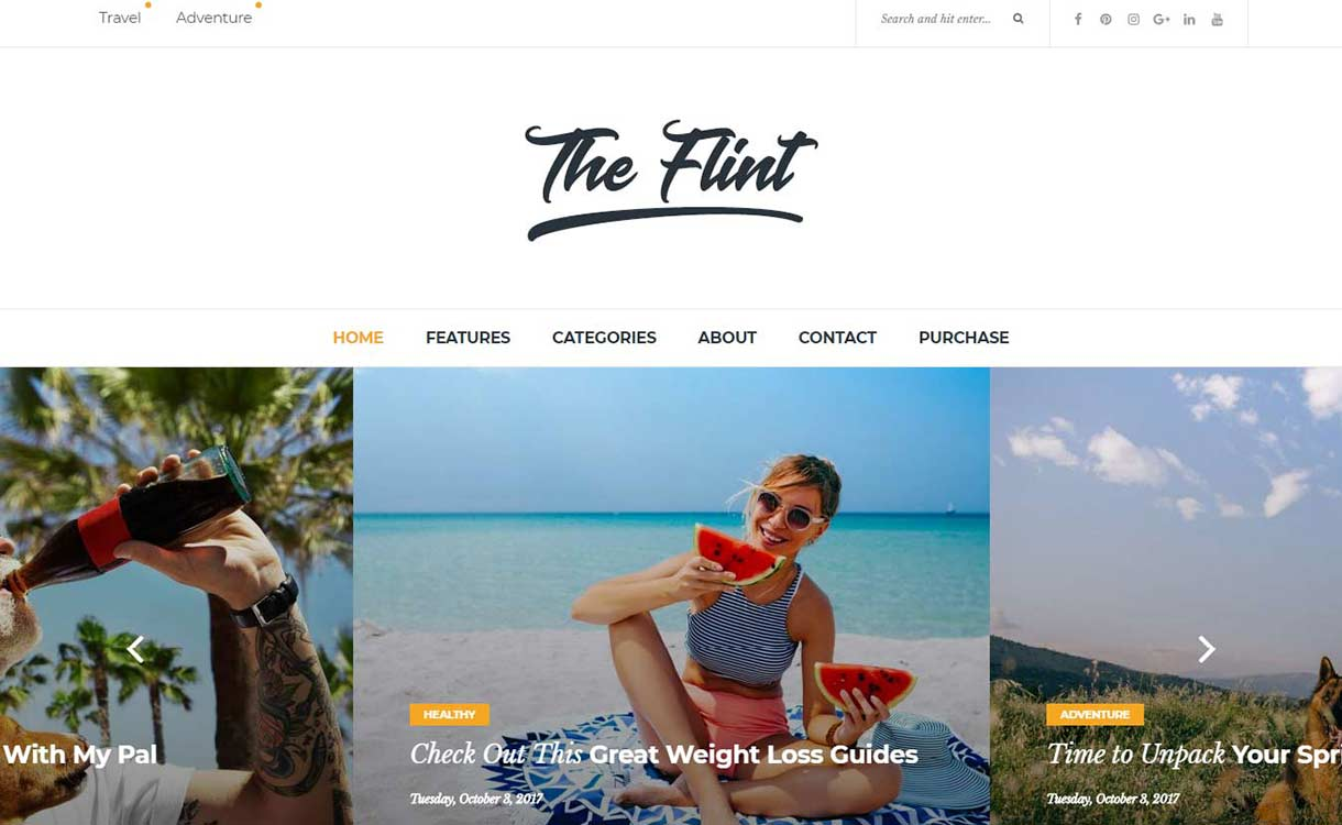 flint-best-premium-wordpress-blog-themes
