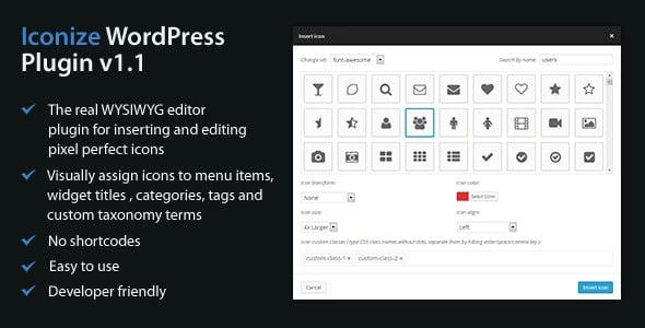 Best Custom Icons Plugin for WordPress Menu: Iconize