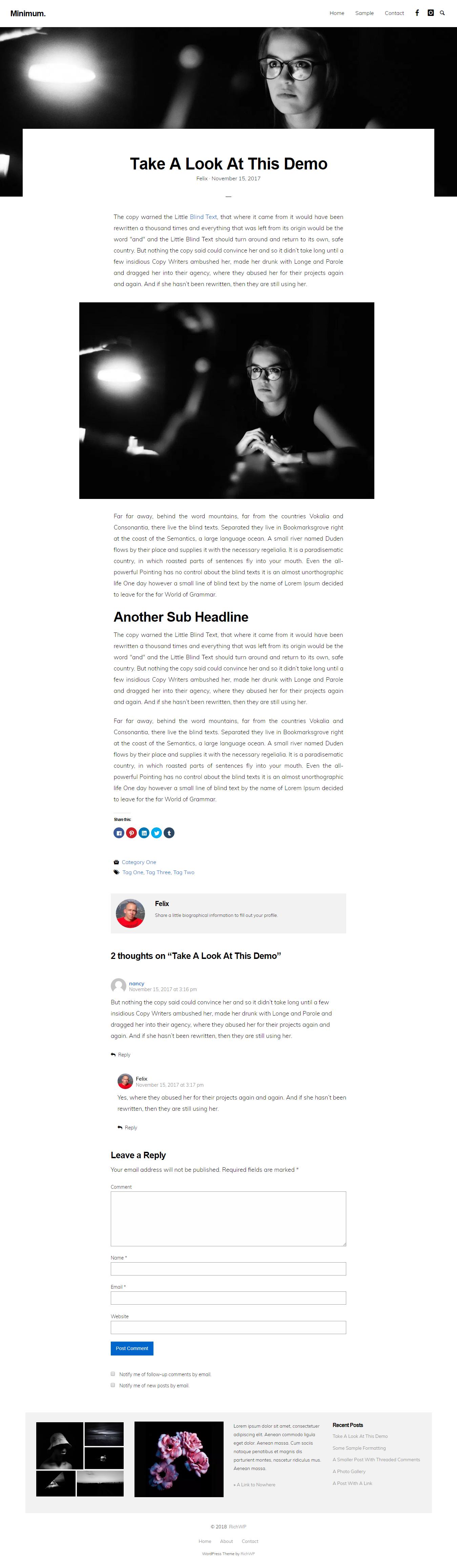 Minimum Minimal – Best Free Minimal WordPress Theme