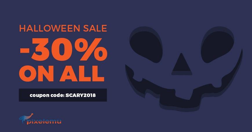 pixelemu halloween offer