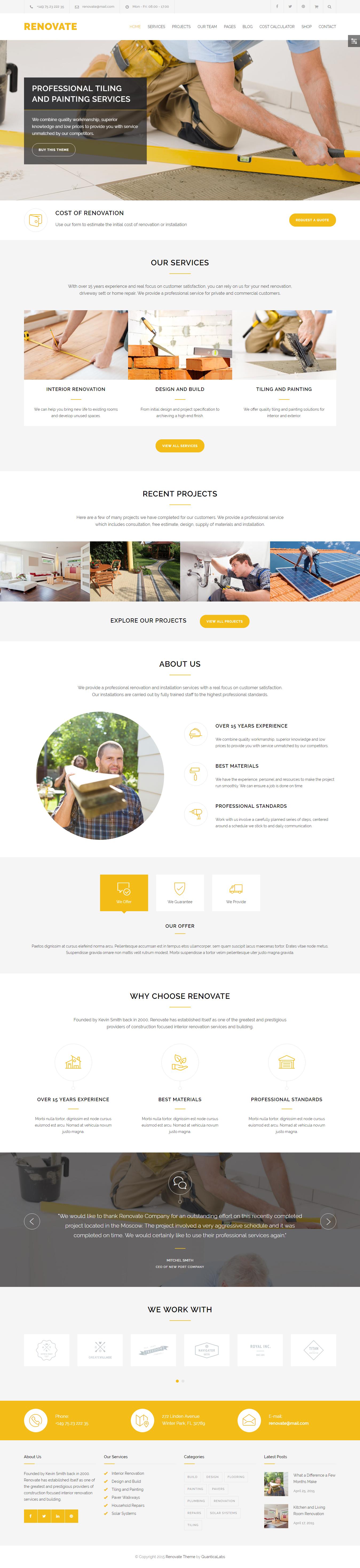 Renovate - Best Premium Construction Business Company WordPress Theme