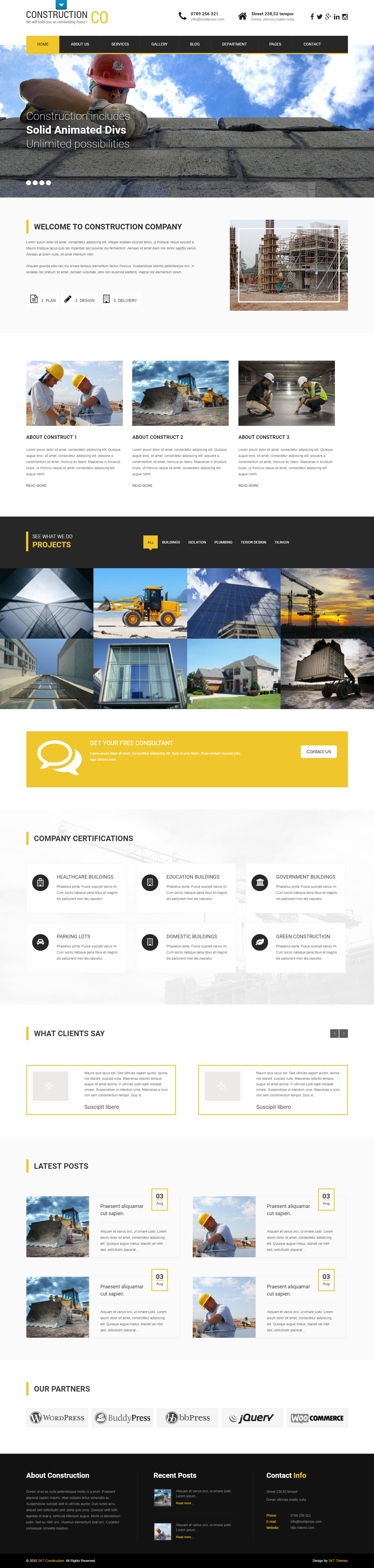 SKT Construction Pro - Best Premium Construction Business Company WordPress Themes and Templates