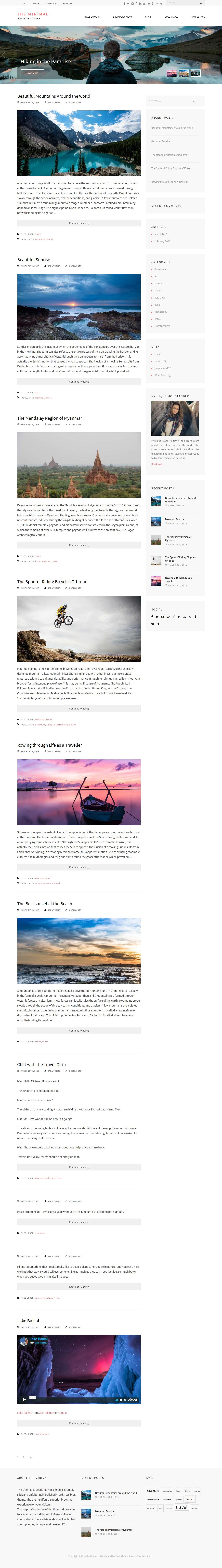 The Minimal – Best Free Minimal WordPress Theme