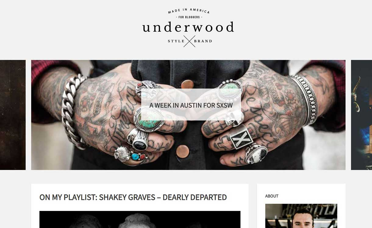 underwood-best-premium-wordpress-blog-themes
