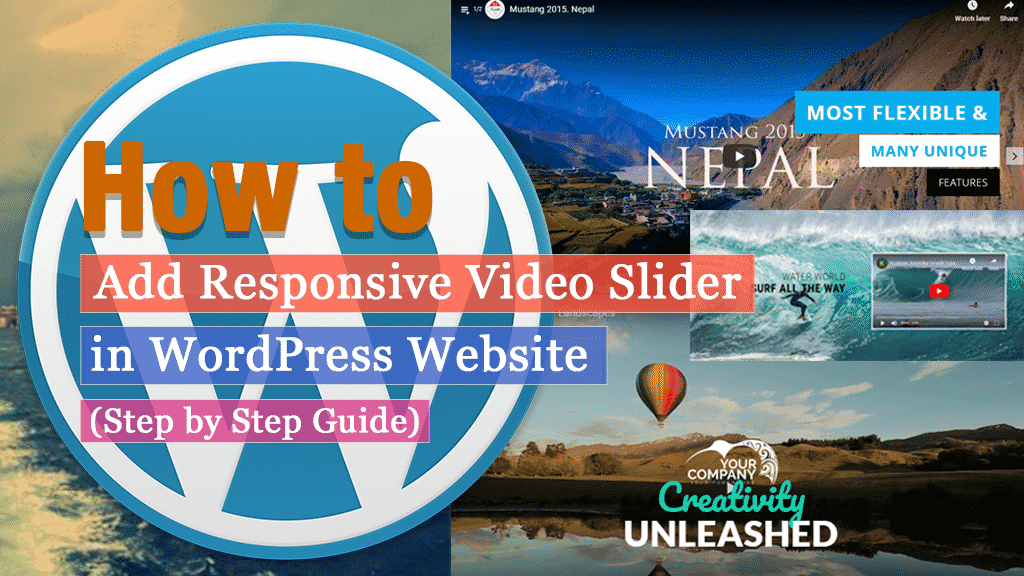 How to add Responsive Video Slider in WordPress website using WP1 Slider Pro? (Step by Step Guide)