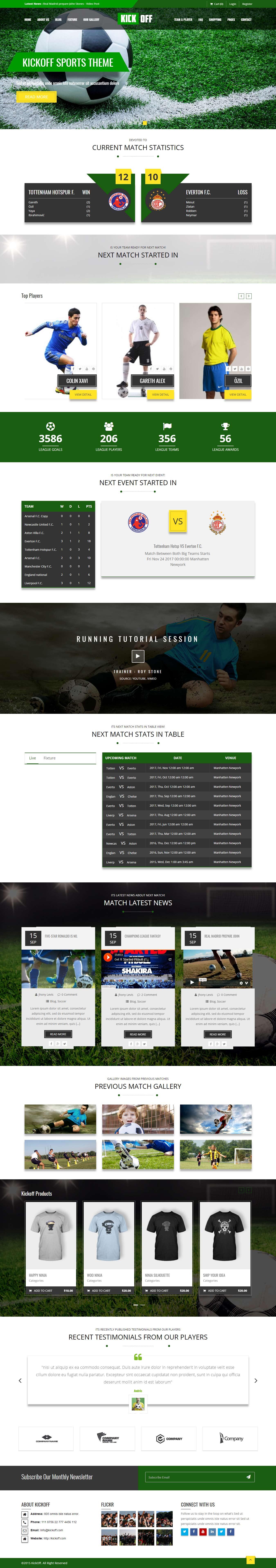 KickOff - Best Premium Sports WordPress Theme